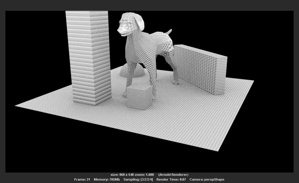 Setting up an ambient occlusion AOV with bump mapping