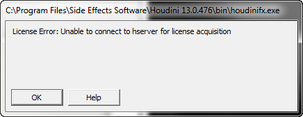 License Error Unable To Connect To Hserver For License Acquisition