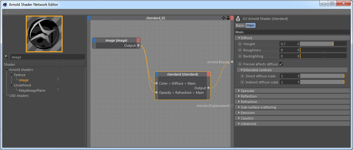 C4DtoA] Opacity and the alpha channel: a simple example